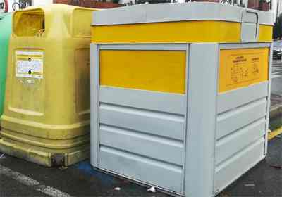 contenedor amarillo para los plasticos